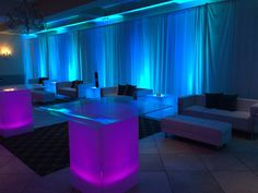 Lounge decor is one of the hottest trends for transforming your next event!!