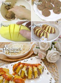KÖFTELİ YELPAZE PATATES TARİFİ http://kadincatarifler.com/kofteli-yelpaze-patates-tarifi