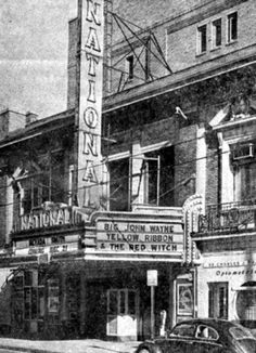 National Theater, 311 S Elm St, Greensboro NC; also known as State Theater. Doors were open from 11/23/1921 - 12/22/1966. Photo from the RW Daniel collection.