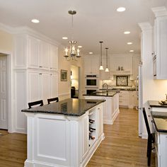 Classic White Perfectly Balanced by Creams and Blues - traditional -  kitchen - raleigh - by emma delon. Blue