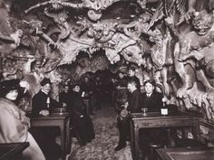 Le Café de L'Enfer was a Hell-themed café in Paris' red light district (aka Pigalle, the neighborhood of the Moulin Rouge), created in the late 19th century and operating until sometime around the middle of the 20th.