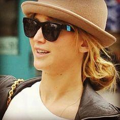 Jennifer Lawrence wears our Westward Leaning brand's Sleeping Beauty Glasses