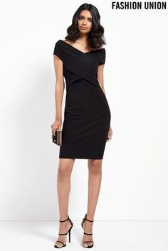 Buy Fashion Union Wrap Front Bodycon Dress from the Next UK online shop
