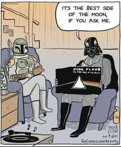 Dark Side of the Moon BY Pink Floyd. Star Wars and Pink Floyd yass! Star Wars Darth, Star Trek, Darth Maul, Dark Vader, Musica Punk, Star Wars Meme, The Dark Side, Boba Fett, Sith
