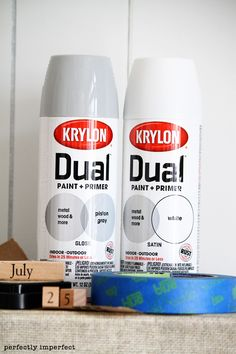 Painting furniture with Krylon Dual Paint + Primer