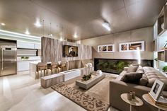 20 Salas de tv com lareira – tendência do momento! Veja modelos e dicas! - Decor Salteado - Blog de Decoração e Arquitetura