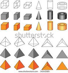 Basic Geometric Shapes With Captions Shapes Basic
