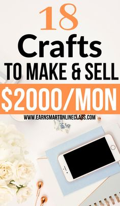 If you want to make and sell crafts for money then this post is for you. Here is a great list of 20 amazing craft ideas that you can use to bring in extra cash on the side. Earning money from home is so easier now than ever. Learn how to start your crafting business and make money from the comfort of your home. #craftideas #craftstomakeandsell #earnmoneyfromhome #sidejobstomakemoney #careersfromhome #makemoneyonline #crafting
