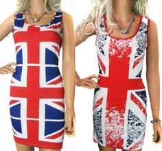 Union jack maxi dress size 20