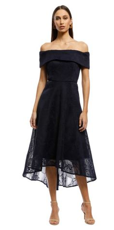 For a black dress, this is a great shape with some lightness because of the lace fabric