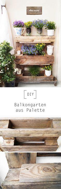 Balkongarten aus Palette by Nur noch - DIY Anleitung (Diy Geschenke Glas)