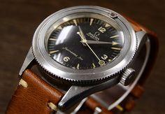 1950年代に発売されたオメガの希少モデル。革ベルトの腕時計 ブランド