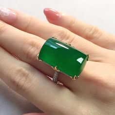 A very fine jadeite plaque ring with wonderful translucency! Available at our Hong Kong Magnificent Jewels sale on November 29 #ChritiesJewels #NaturalJadeite #ImperialJadeite