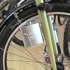 A bike flask :) Dont drink and paddle.