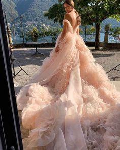 Best Wedding Dresses Collections for 2021/2022 ❤ best wedding dresses low back with train blush moniquelhuillier #weddingforward #wedding #bride