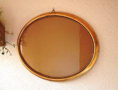 Vintage Bilderrahmen - großer Vintage Bilderrahmen, gold oval - ein Designerstück von mauchelie bei DaWanda Designer, Etsy, Mirror, School, Vintage, Decor, Oval Picture Frames, Decoration, Mirrors