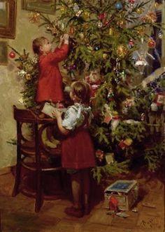 Decorating the Christmas Tree <3