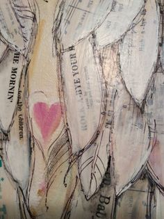 Angel Wings Painting custom order your own by MichelleLakeArt