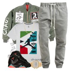 """Air Jordan"" by oh-aurora ❤ liked on Polyvore featuring NIKE, Retrò, G-Star and Asprey"