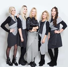 beautiful team wearing KUKLA shades of grey in different variations Team Wear, Bridesmaid Dresses, Wedding Dresses, Every Woman, Shades Of Grey, Wrap Dress, Women Wear, Skirts, How To Wear