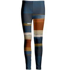 Azalea Orange & Blue Stripe Leggings ($13) ❤ liked on Polyvore featuring plus size women's fashion, plus size clothing, plus size pants, plus size leggings, white stretch pants, stretch pants, blue pants, stretchy pants and orange pants