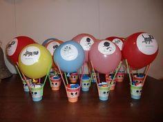 Leuke traktatie gezien met Jip & Janneke bekers en ballonnen van de Hema
