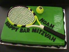 Tennis theme the art of the cake