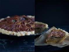 Maple Pecan Pie....ditch the corn syrup and replace it with maple syrup!!