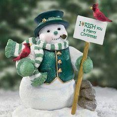 An Irish Christmas snowman ♡