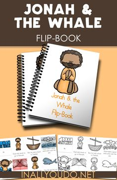 These simple mini flip books are a fun way to work on sequencing and retelling of Jonah & the Whale. :: www.inallyoudo.net