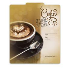 """Premium Faltgutschein """"Multicolor"""" G2025 für Kaffeehäuser, Cafés und die Gastronomie! Tableware, Fine Dining, Coffeehouse, Things To Do, Cards, Gifts, Dinnerware, Dishes"""