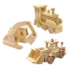 Kustom Wood Toy Truck or Train Building Kit | One Step Ahead $14.95