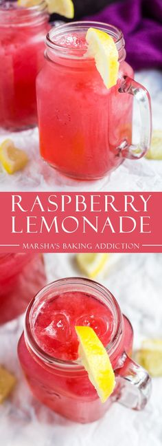 Raspberry Lemonade- Deliciously cool and refreshing raspberry lemonade made with fresh raspberries and lemons. Perfect for hot summer days!