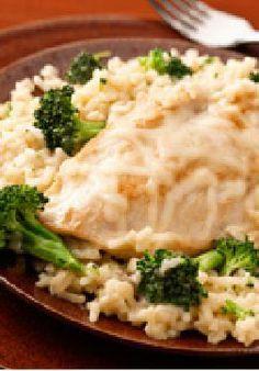 Arroz con pollo y mozzarella a la sartén-30 minutos y una sartén. Esta receta para una vida más saludable no es solo la favorita de la familia, también es fácil de recoger.
