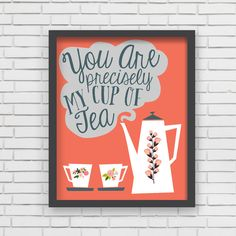 Coral Home Decor Nursery Wall Art  Coral Cup by LucyDarlingPrints, $19.99