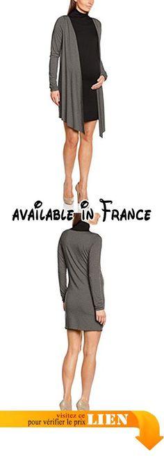 B01ER2CHFM : Pietro Brunelli Molly Tunique de Plage Femme Gris (Grey Mélange/Black) FR: 38 (Taille Fabricant: M). Fashionable. Comfortable. Type de coupe:Tunique
