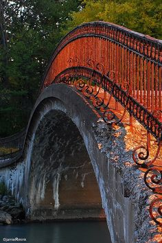 Bridge on Fire - Sibley, Trenton, Michigan ~ Photo by Jamie Mink