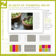Announcing the 30 Days of Thankful Album Project