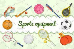 Sports equipment by Rosa Puchalt on @creativemarket