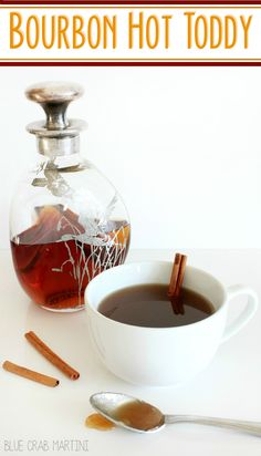Bourbon Hot Toddy- the perfect drink to sip this winter! Honey, lemon ...
