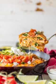 CHICKEN ENCHILADA SKILLET PIEReally nice recipes. Every  Mein Blog: Alles rund um die Themen Genuss & Geschmack  Kochen Backen Braten Vorspeisen Hauptgerichte und Desserts # Hashtag