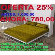 PROMO 05: Cama abatible 780,00 euros