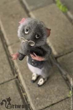 Felted rat