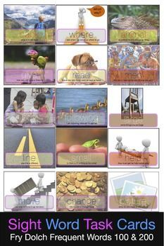 First Sight Word Task Cards 100 200 - Literacy... by Games That POP   Teachers Pay Teachers