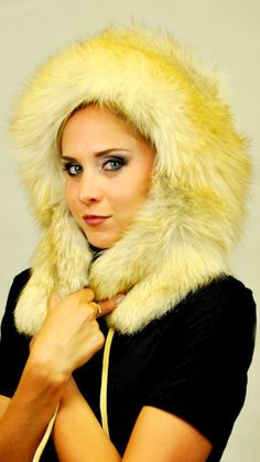 and original earmuff Golden-Fire fox fur hat. are completely lined with  leather. This hat fits any woman wishing to be trendy even in cold winter. a18374e8dfd7
