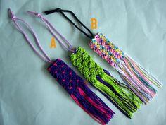 リリヤンで編むお守り袋
