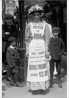 An poster sized print, approx (other products available) - A Suffragette housemaid in 1908 during the campaign for the enfranchisement of women. - Image supplied by PA Images - poster sized print mm) made in Australia