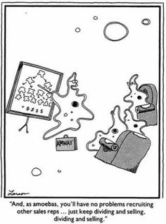 dividing and selling | the far side | by: gary larson