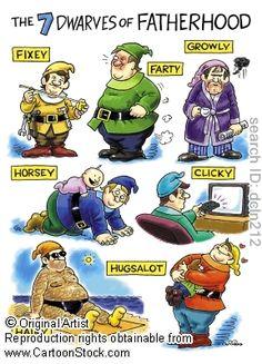 7 Dwarves of Fatherhood lol
