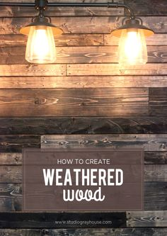 Create weathered wood using new wood for wood plank walls. Click through for a tutorial and video tutorial showing the steps to distress new wood giving it a weathered wood look, perfect to create a rustic accent wall.